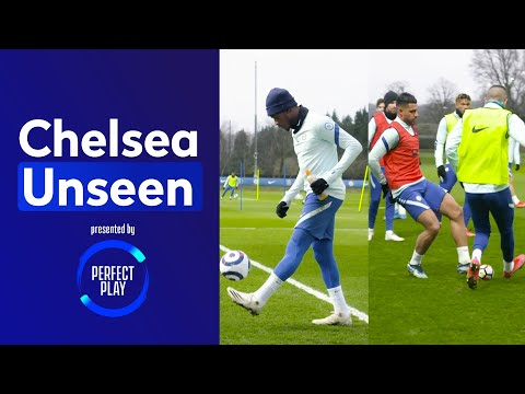 Hudson-Odoi Shows Off Pinpoint Accuracy 👀 Emerson Nutmegs Ziyech!? 🤣 | Chelsea Unseen