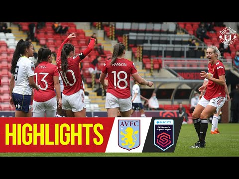 Highlights | Manchester United Women 3-0 Aston Villa | FA Women's Super League