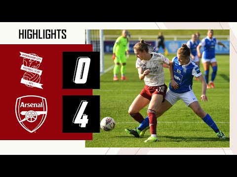 HIGHLIGHTS | Birmingham City 0-4 Arsenal | Women's Super League